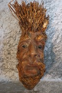 Picture of wilde man made of wood